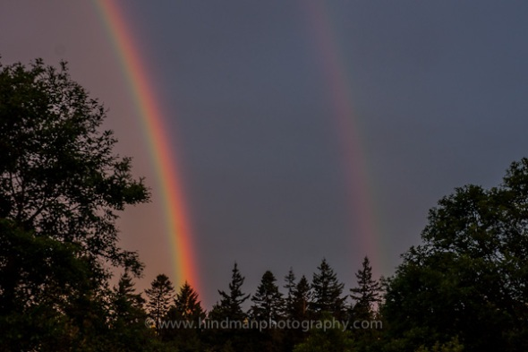 Double rainbow, Bellingham, WA