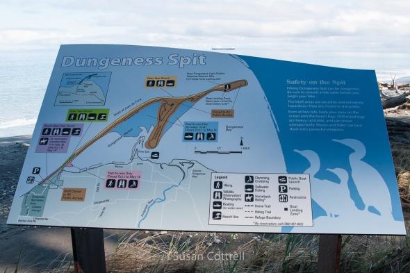 Map of Dungeness National Wildlife Refuge